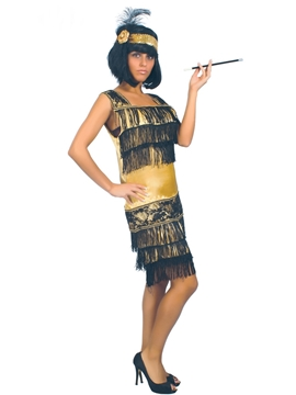 Disfraz Charleston Dorado Mujer