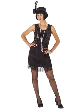 Disfraz Charleston Flapper Negro Adulta