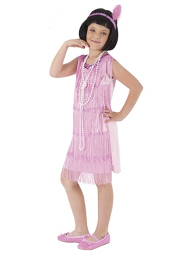 Disfraz Charleston Flapper Rosa Infantil