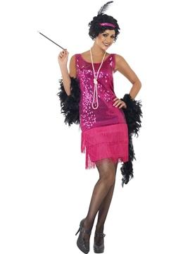 Disfraz Charleston Fucsia Mujer
