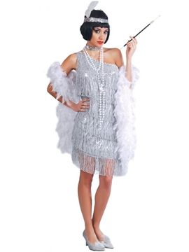 Disfraz Charlestón Plata Mujer