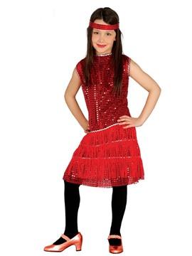 Disfraz Charleston Rojo Infantil