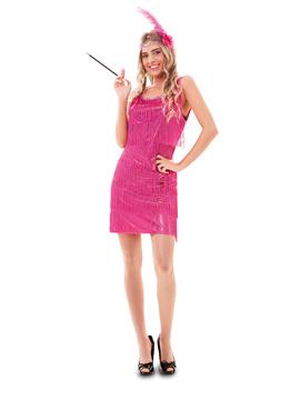 Disfraz Charleston Rosa Intenso Mujer