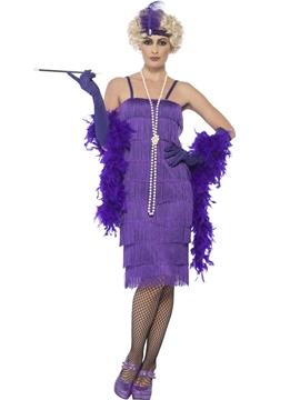 Disfraz Charleston Violeta Mujer