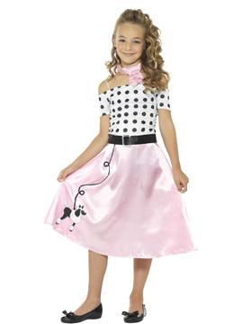 Disfraz Chica Años 50 Infantil