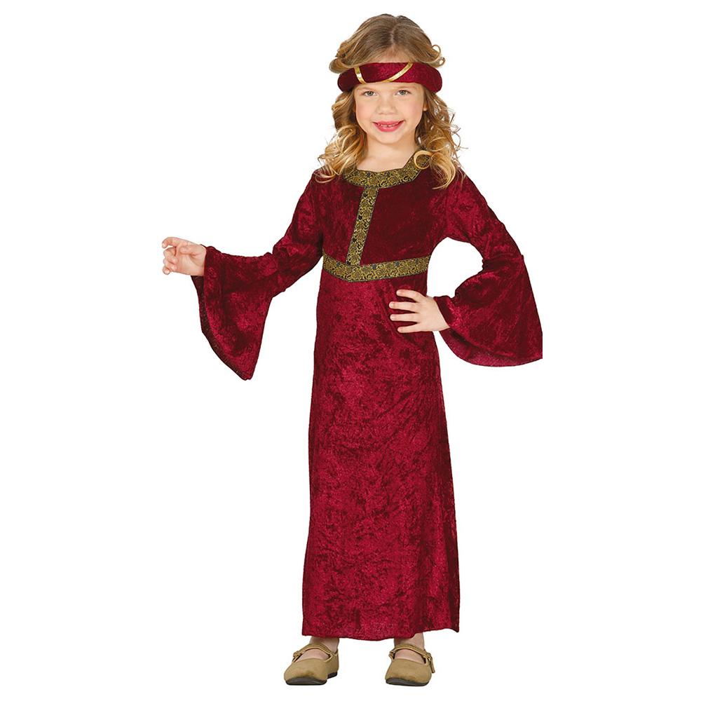 Disfraz Dama Medieval Granate Infantil