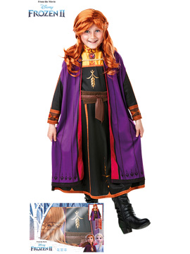Disfraz Anna con Peluca Frozen 2 Infantil