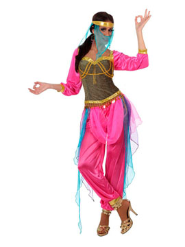 Disfraz Bailarina Árabe Rosa y Azul Adulto