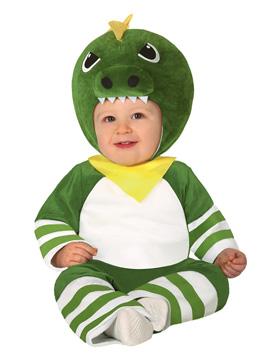Disfraz Dinosaurio Verde Bebé