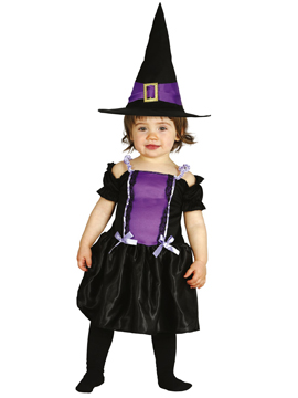 Disfraz de Brujita Baby Púrpura
