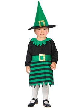 Disfraz Brujita Verde Bebé