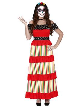 Disfraz Catrina Día de los Muertos Adulto