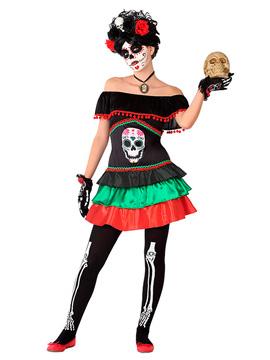 Disfraz Catrina Esqueleto Adolescente