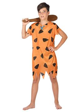 Disfraz Cavernícola Naranja Infantil