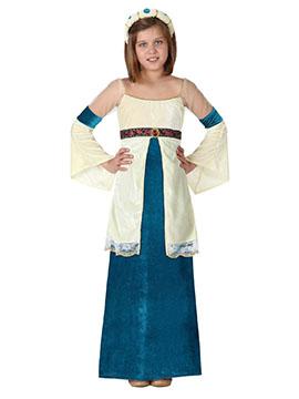 Disfraz Dama Medieval Niña Infantil