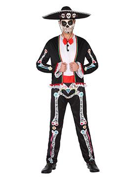 Disfraz Esqueleto Catrín Día de los Muertos Adulto