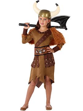Disfraz Niña Vikinga Infantil