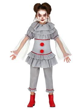 Disfraz Payasa Gris Infantil