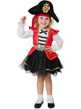 Disfraz Pirata Caribeña Infantil