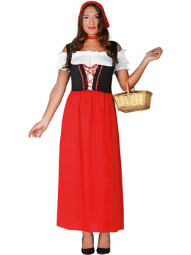 Disfraz Posadera Rojo Adulto