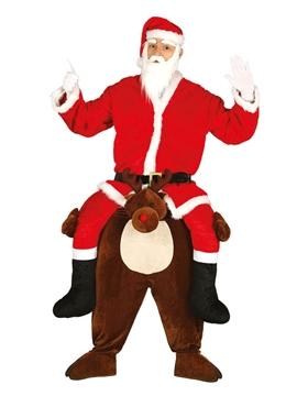 Disfraz de Reno Santa Claus a Hombros Adulto
