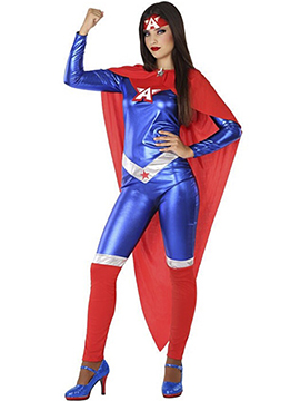 Disfraz Superheroína Cómic Adulto