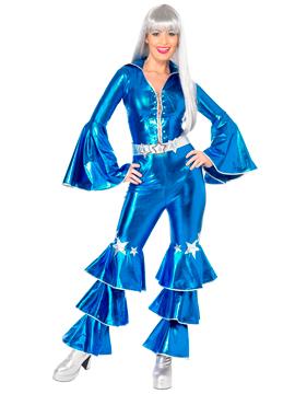 Disfraz Disco Azul Años 70