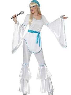 Disfraz Disco Blanco Mujer