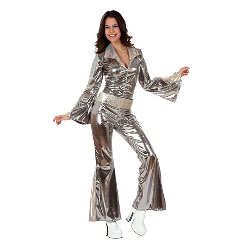 Disfraz Disco Plateado Mujer