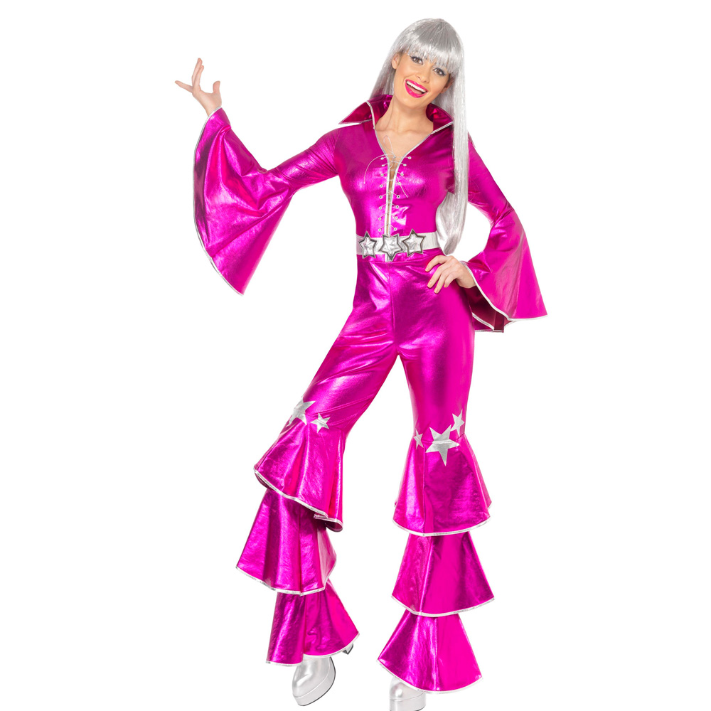 Disfraz Disco Rosa Años 70 Adulto