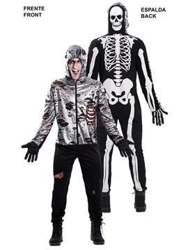 Disfraz Doble Zombie Esqueleto Adulto