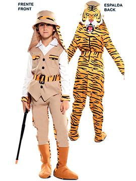 Disfraz Doble Fun Cazador Tigre Infantil