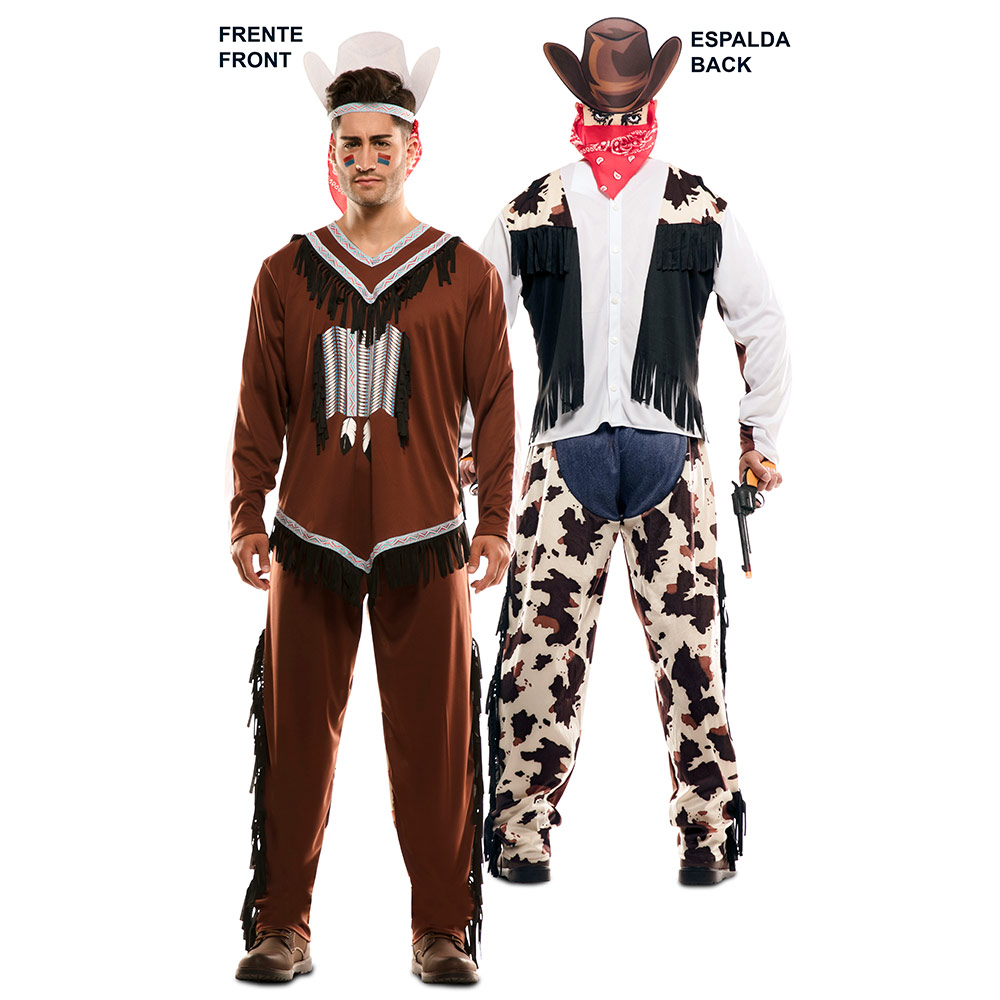 Disfraz Doble Fun Indio Vaquero Adulto