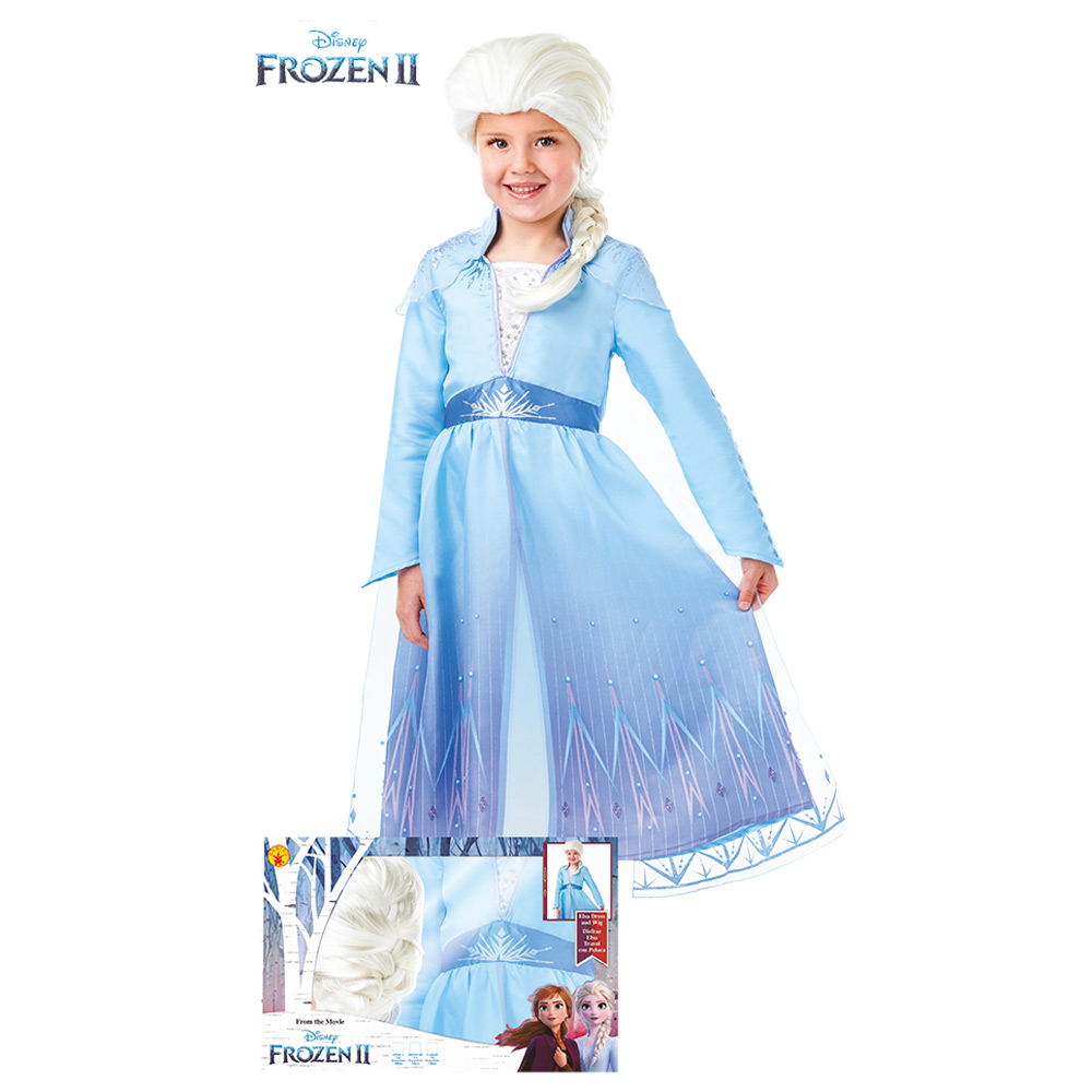 Disfraz Elsa con Peluca Frozen Infantil