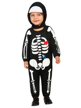 Disfraz Esqueleto Capucha Bebé