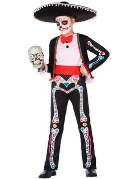 Disfraz Esqueleto Catrín Infantil