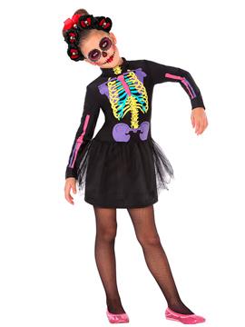 Disfraz Esqueleto Colores Infantil