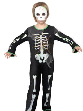 Disfraz Esqueleto Con Máscara Infantil