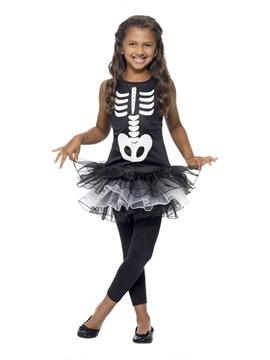 Disfraz de Esqueleto con Tutú Niña