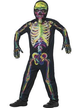 Disfraz Esqueleto Fluorescente Infantil