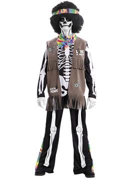 Disfraz Esqueleto Hippie Adulto