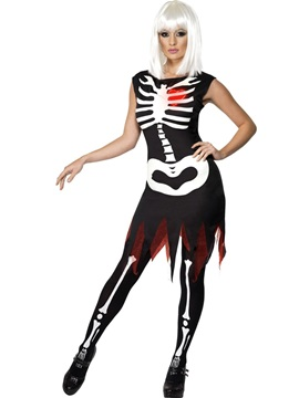 Disfraz Esqueleto Luminoso Mujer