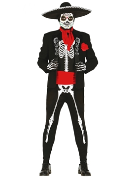 Disfraz Esqueleto Mexicano Adulto