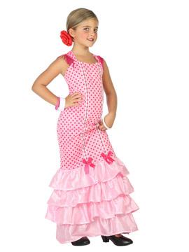 Disfraz Flamenca Rosa Niña Infantil