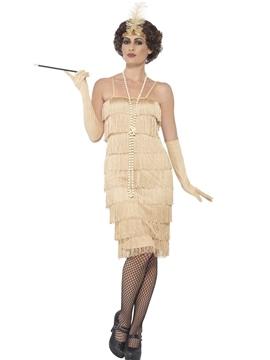Disfraz Flapper Años 20 Dorado Mujer