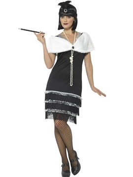 Disfraz Flapper Negro Mujer