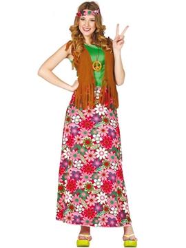 Disfraz Happy Hippie Mujer