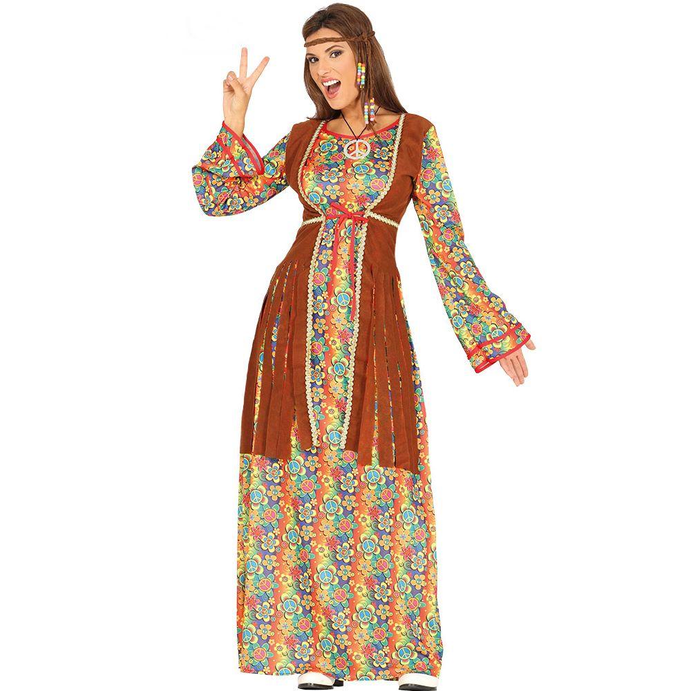 Disfraz Hippie con Chaleco Adulta