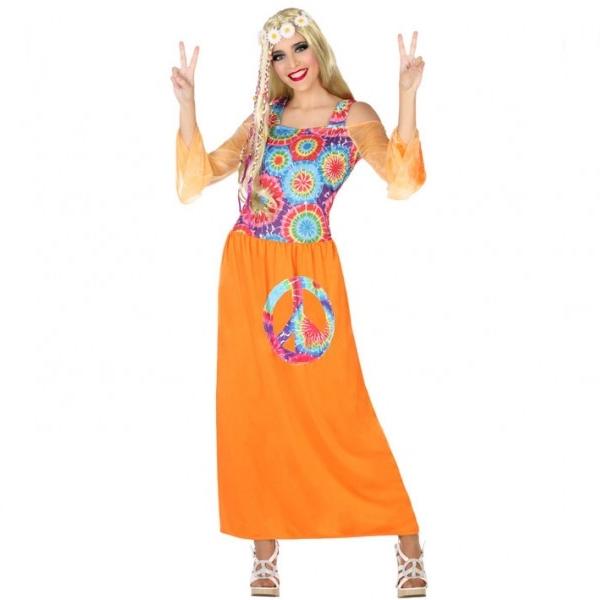 Disfraz Hippie Naranja Mujer