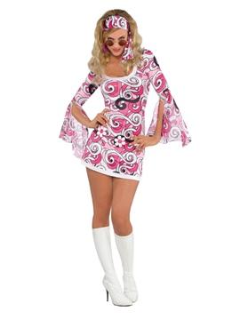Disfraz Hippie Pink Mujer